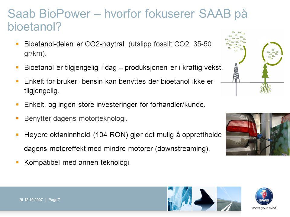 Saab BioPower – hvorfor fokuserer SAAB på bioetanol
