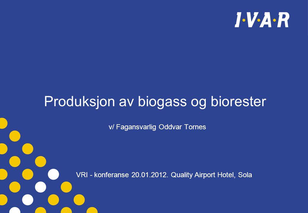 Produksjon av biogass og biorester