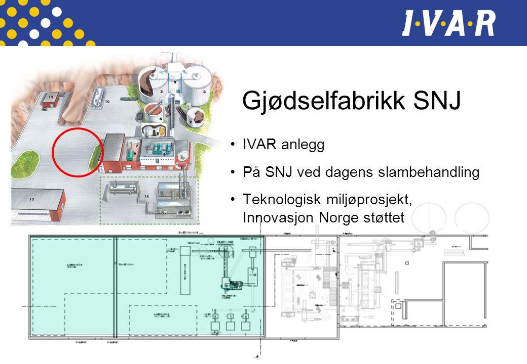 Gjødselfabrikk SNJ IVAR anlegg På SNJ ved dagens slambehandling