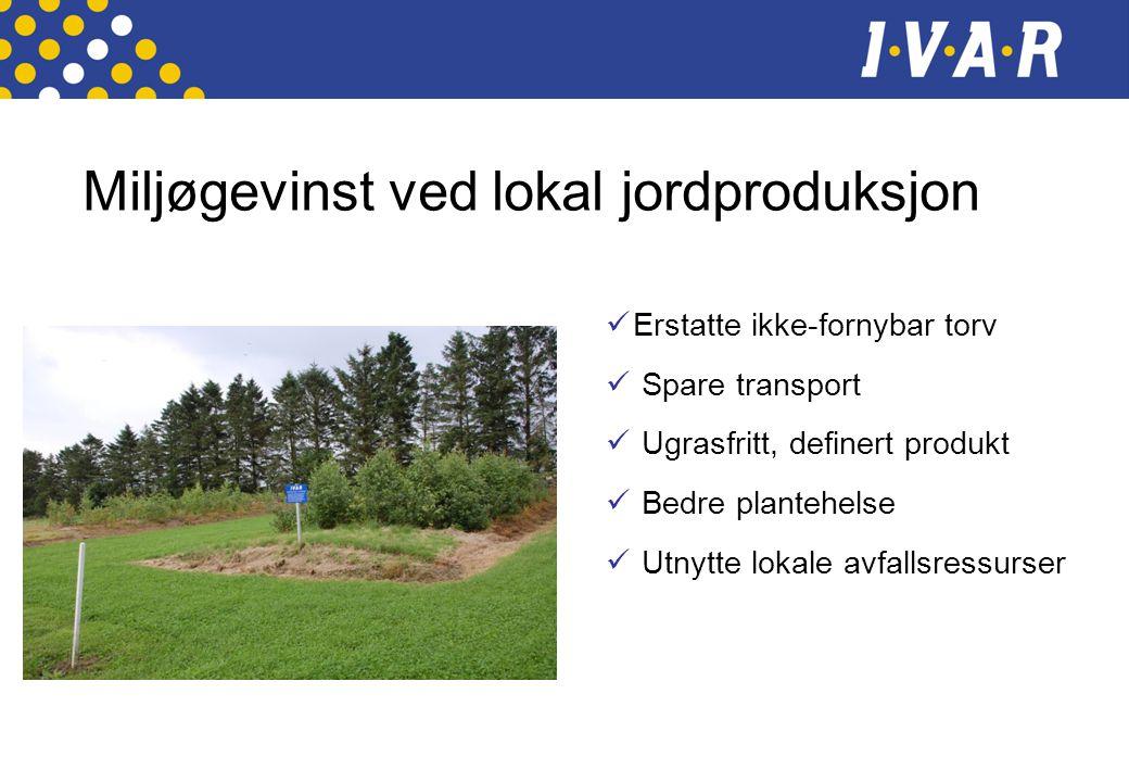 Miljøgevinst ved lokal jordproduksjon