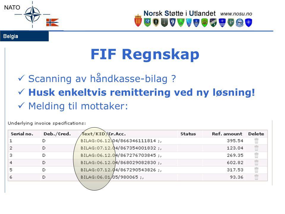 FIF Regnskap Scanning av håndkasse-bilag