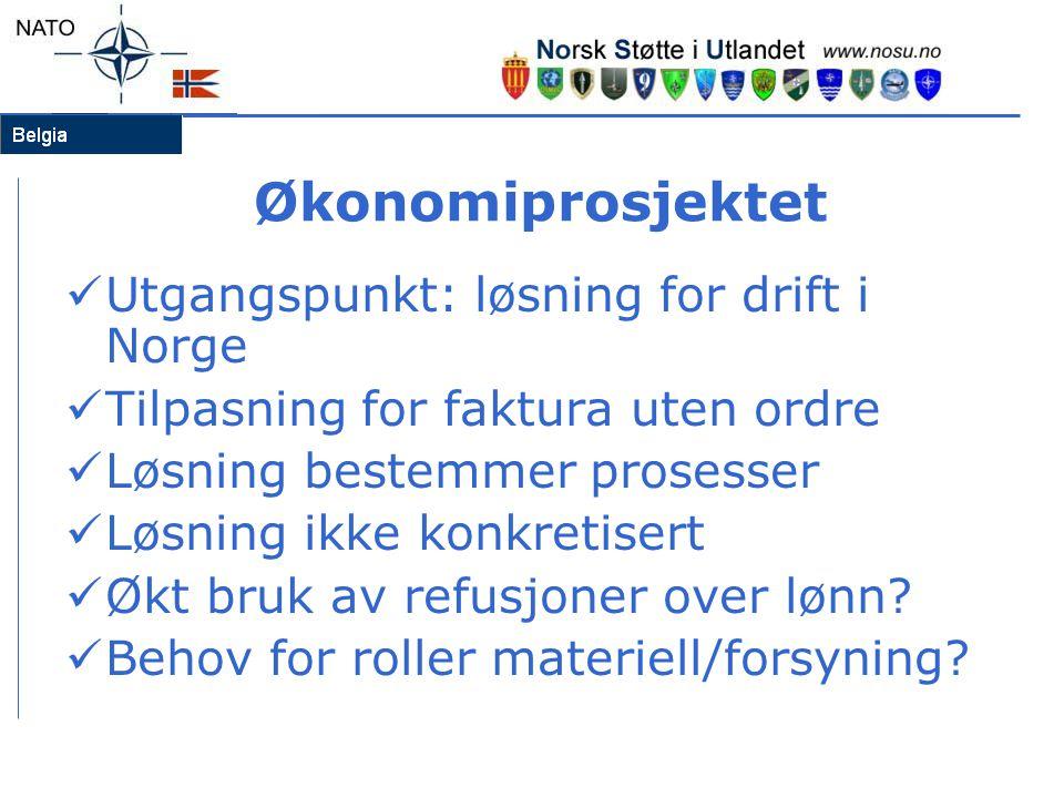 Økonomiprosjektet Utgangspunkt: løsning for drift i Norge