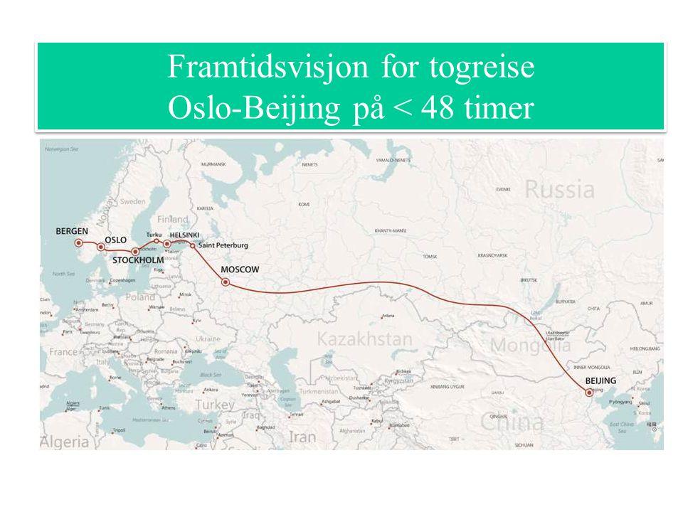 Framtidsvisjon for togreise Oslo-Beijing på < 48 timer