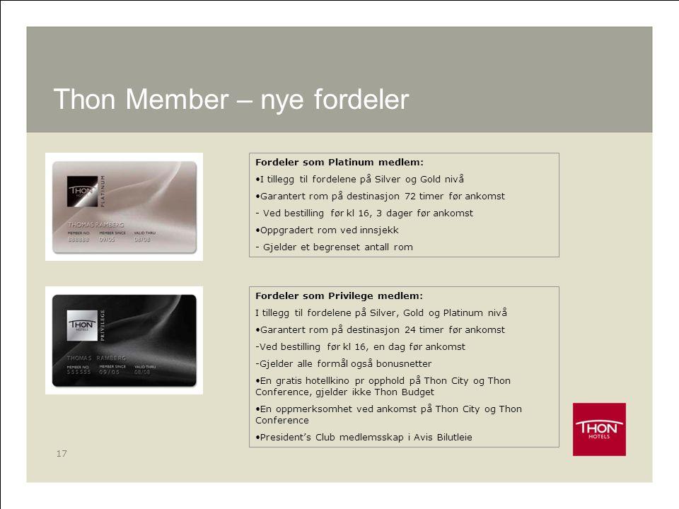 Thon Member – nye fordeler