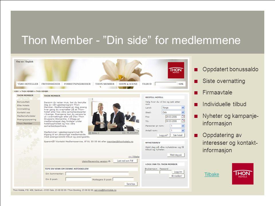 Thon Member - Din side for medlemmene