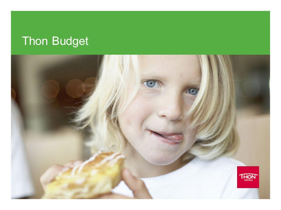 Thon Budget Med etableringen av konseptet Budget lanserer Thon Hotels som første aktør et tydelig lavpristilbud i det norske markedet.