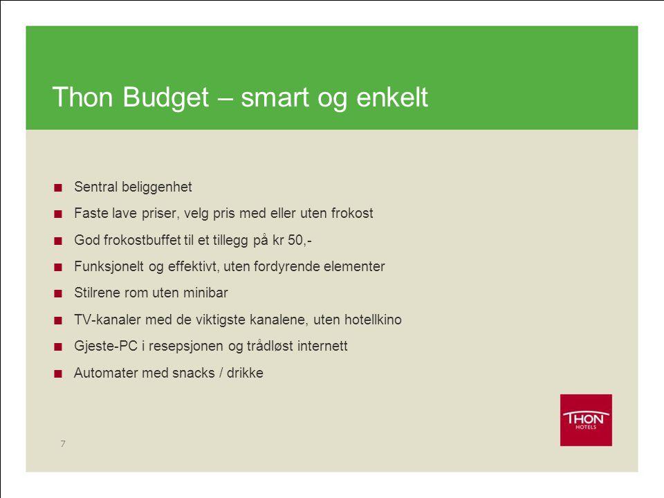 Thon Budget – smart og enkelt