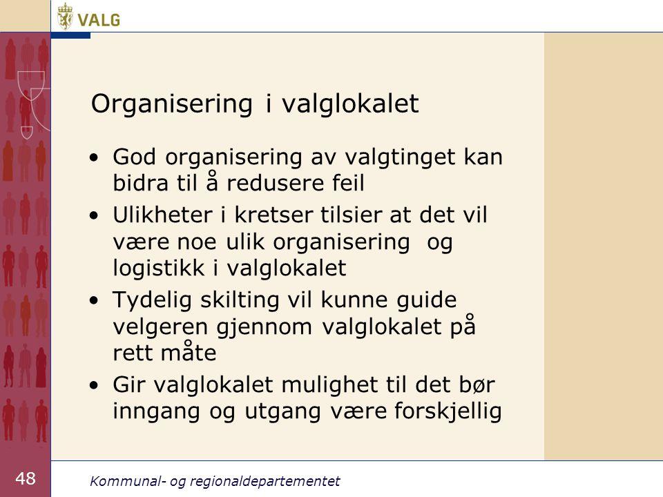 Organisering i valglokalet