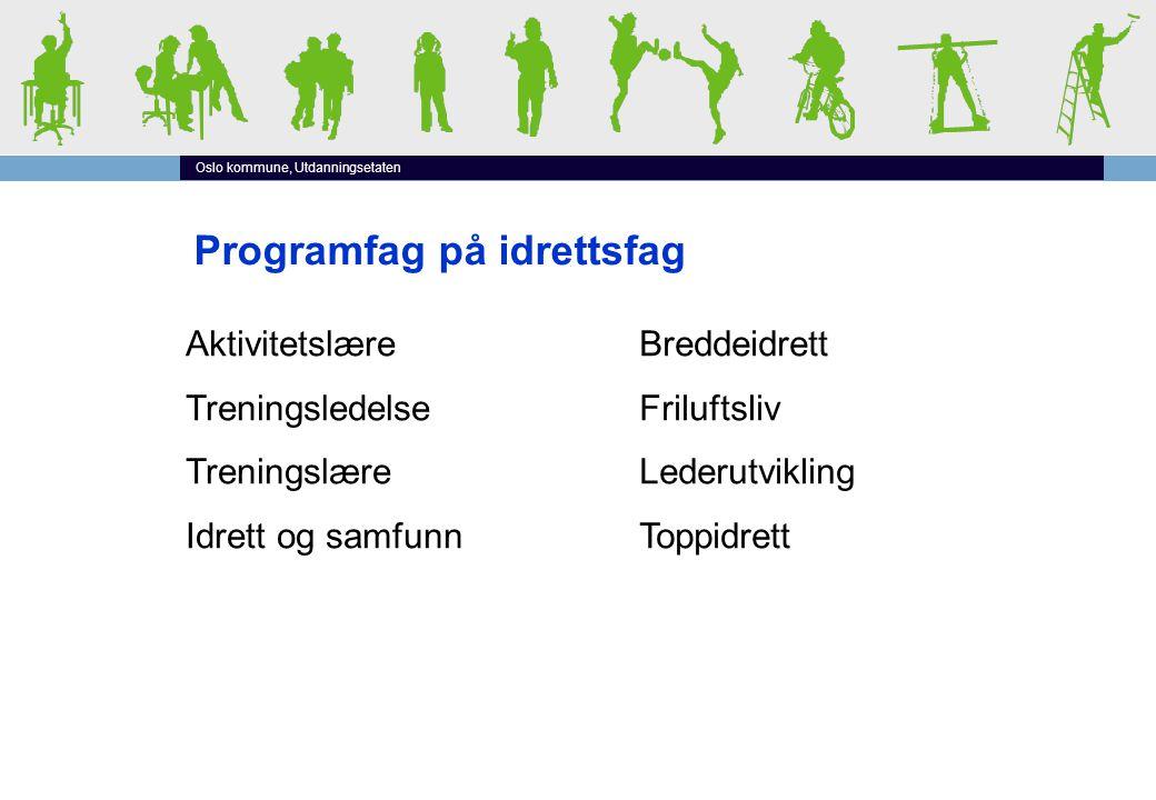 Idrettsfag Vg1 Vg2 Vg3 Felles programfag/ valgfrie programfag