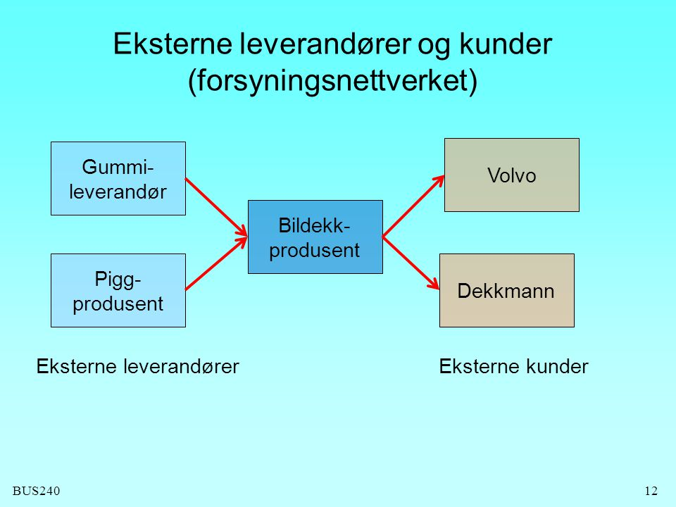 Eksterne leverandører og kunder (forsyningsnettverket)
