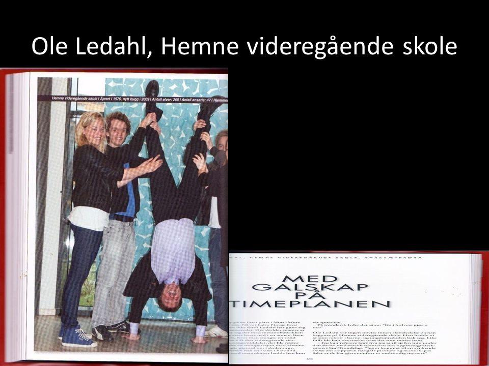 Ole Ledahl, Hemne videregående skole
