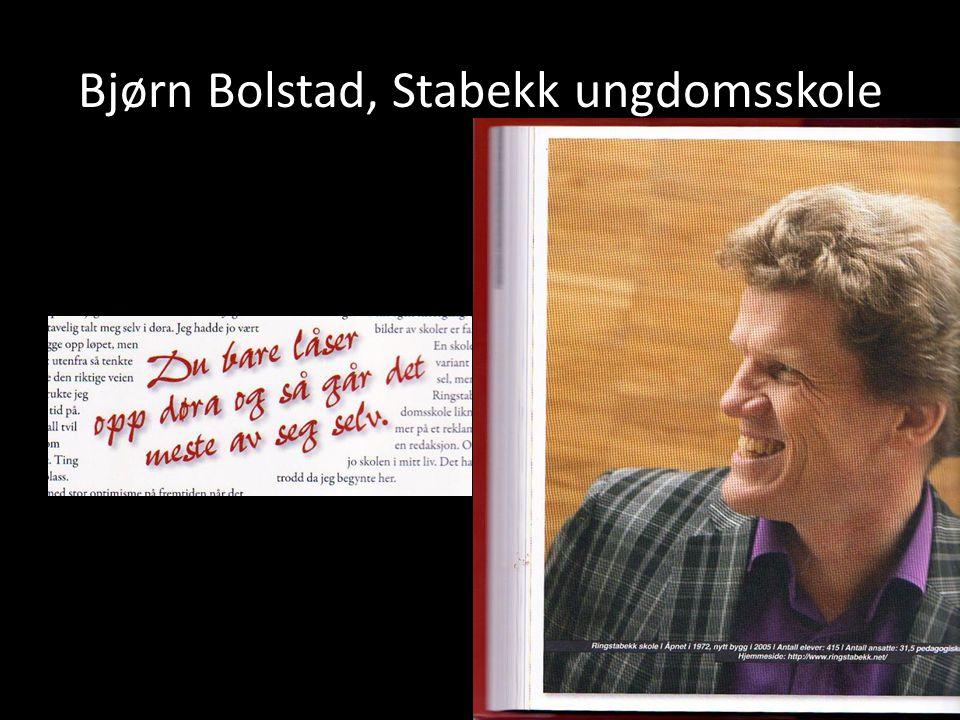 Bjørn Bolstad, Stabekk ungdomsskole