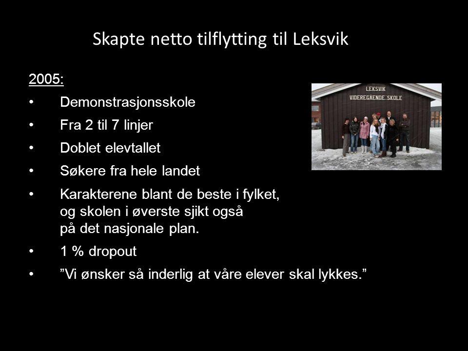 Skapte netto tilflytting til Leksvik