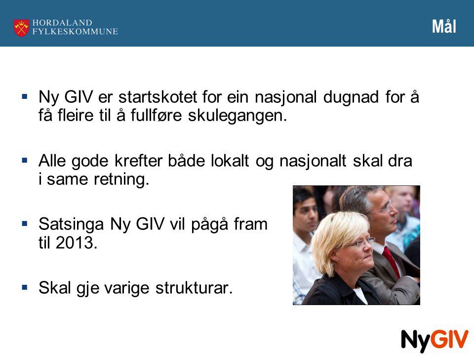 Mål Ny GIV er startskotet for ein nasjonal dugnad for å få fleire til å fullføre skulegangen.