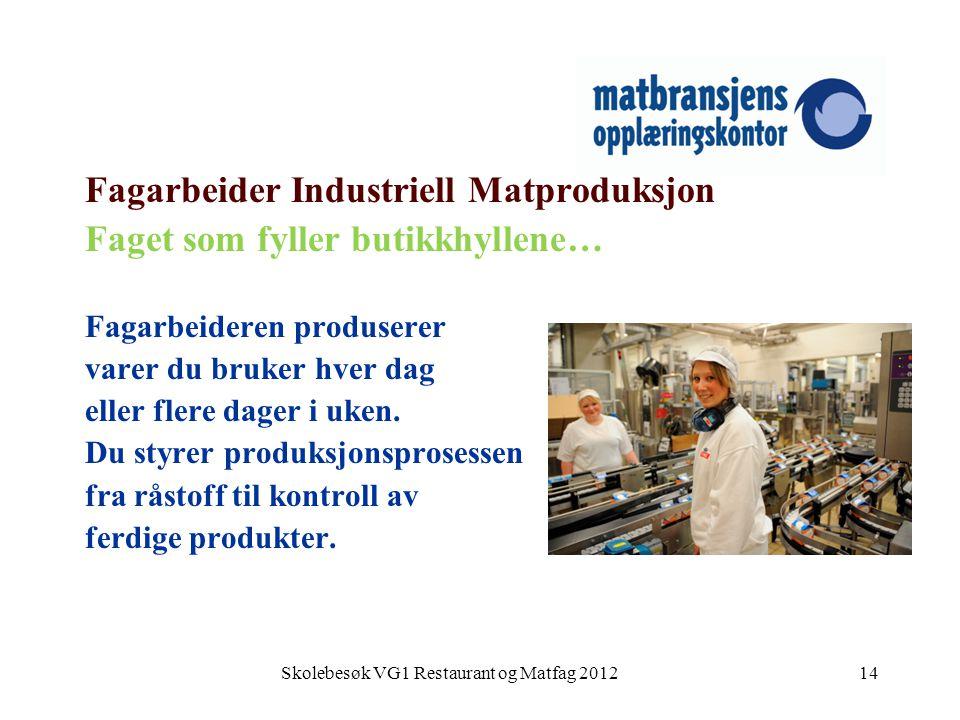 Skolebesøk VG1 Restaurant og Matfag 2012