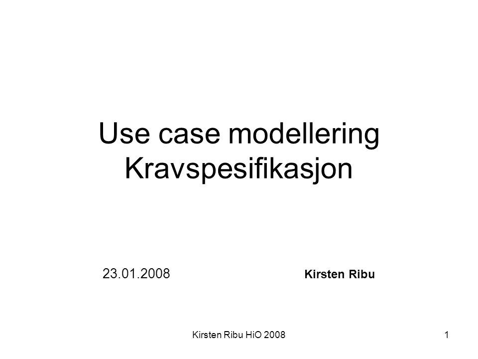 Use case modellering Kravspesifikasjon