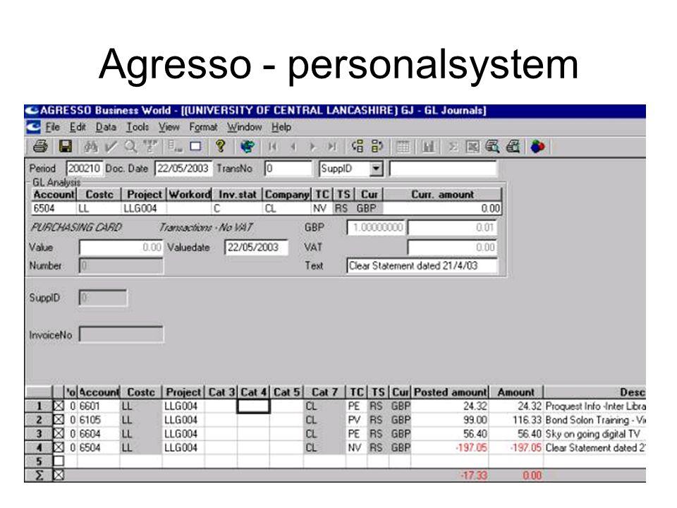 Agresso - personalsystem