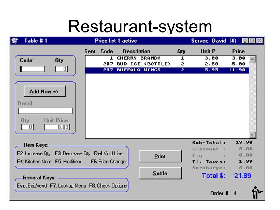 Restaurant-system Kirsten Ribu HiO 2008