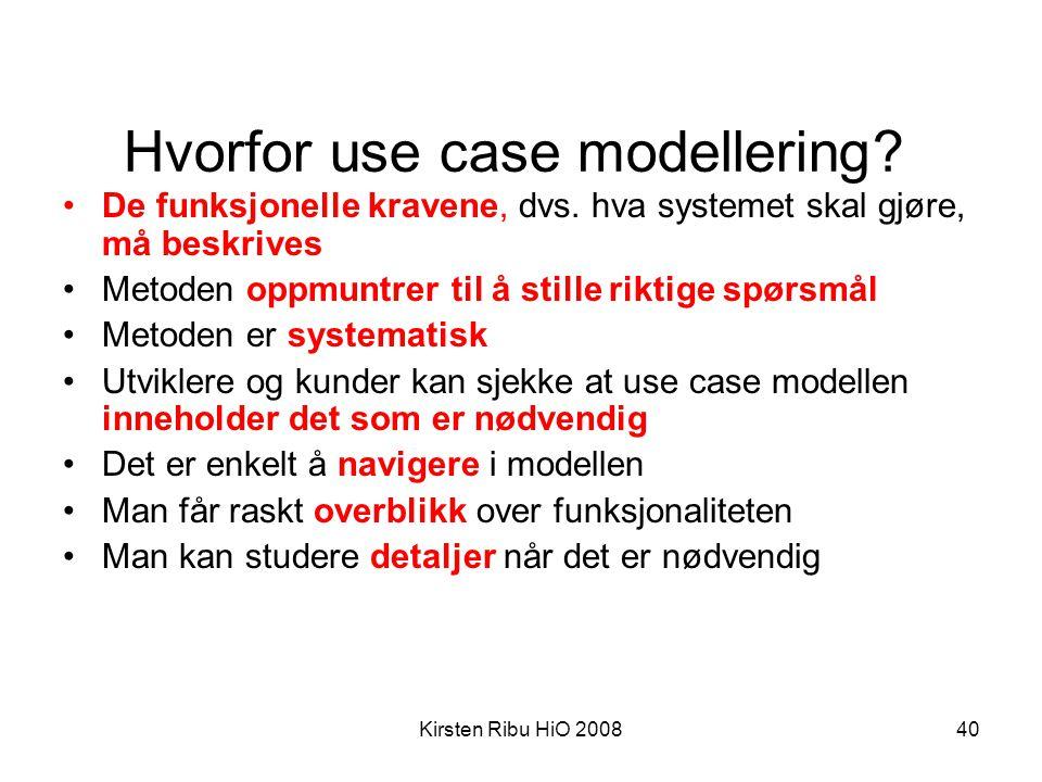 Hvorfor use case modellering