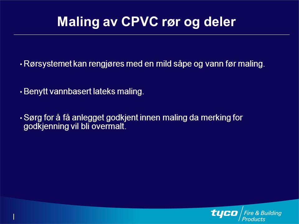 Maling av CPVC rør og deler