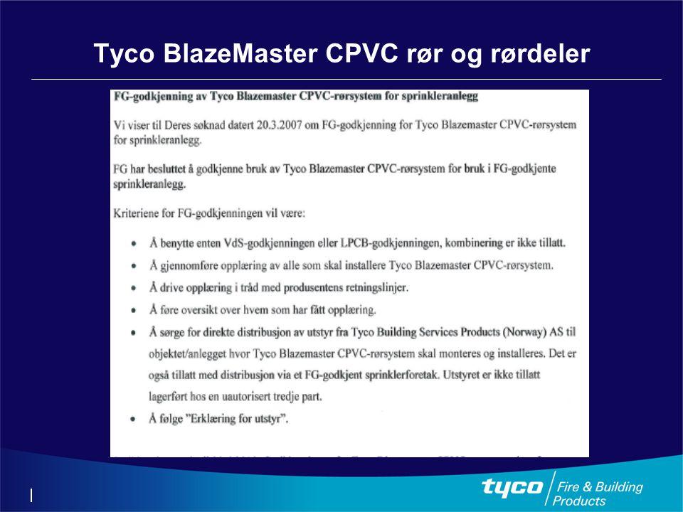 Tyco BlazeMaster CPVC rør og rørdeler