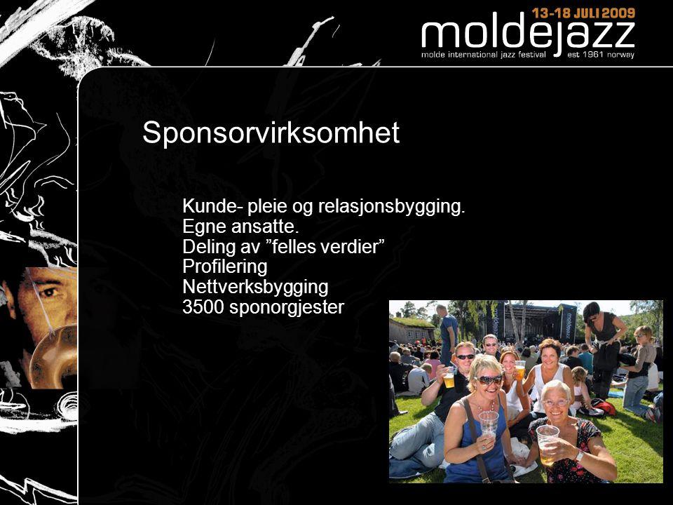 Sponsorvirksomhet Kunde- pleie og relasjonsbygging. Egne ansatte.