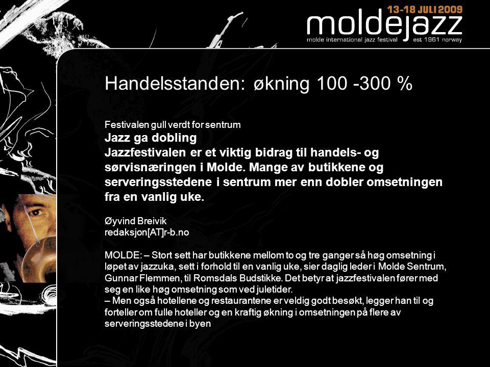110 Handelsstanden: økning 100 -300 %