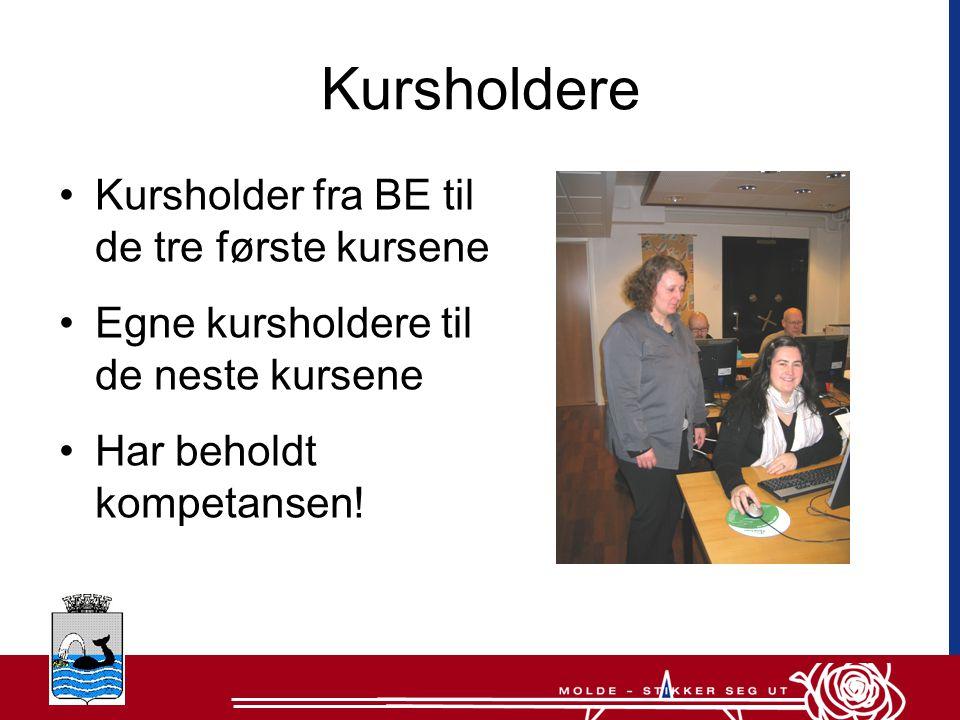 Kursholdere Kursholder fra BE til de tre første kursene