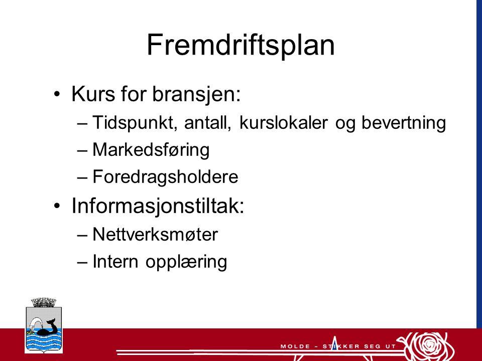 Fremdriftsplan Kurs for bransjen: Informasjonstiltak: