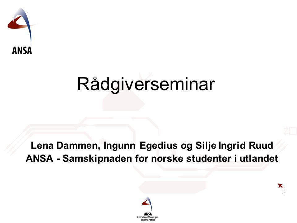 Rådgiverseminar Lena Dammen, Ingunn Egedius og Silje Ingrid Ruud