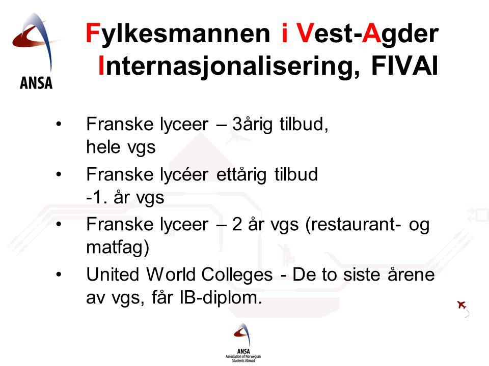 Fylkesmannen i Vest-Agder Internasjonalisering, FIVAI