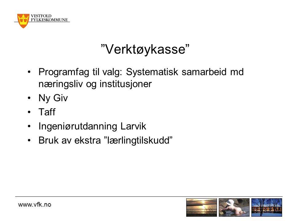 Verktøykasse Programfag til valg: Systematisk samarbeid md næringsliv og institusjoner. Ny Giv. Taff.