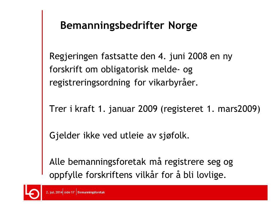 Bemanningsbedrifter Norge