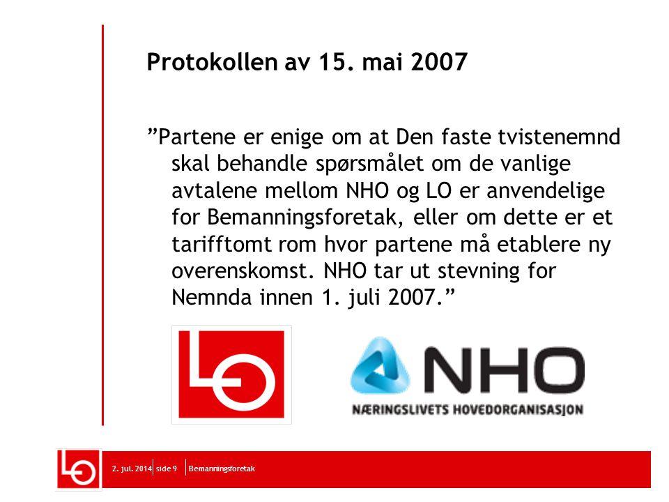 Protokollen av 15. mai 2007