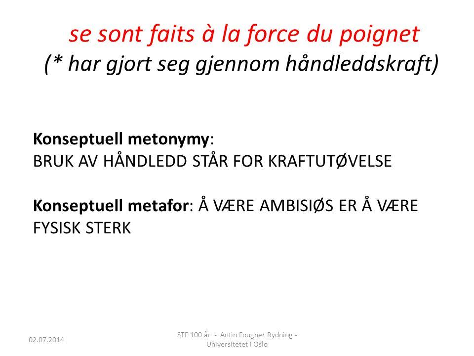 STF 100 år - Antin Fougner Rydning - Universitetet i Oslo