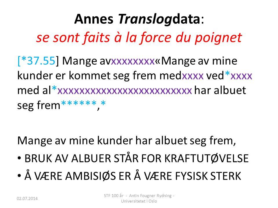 Annes Translogdata: se sont faits à la force du poignet