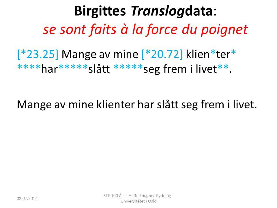 Birgittes Translogdata: se sont faits à la force du poignet