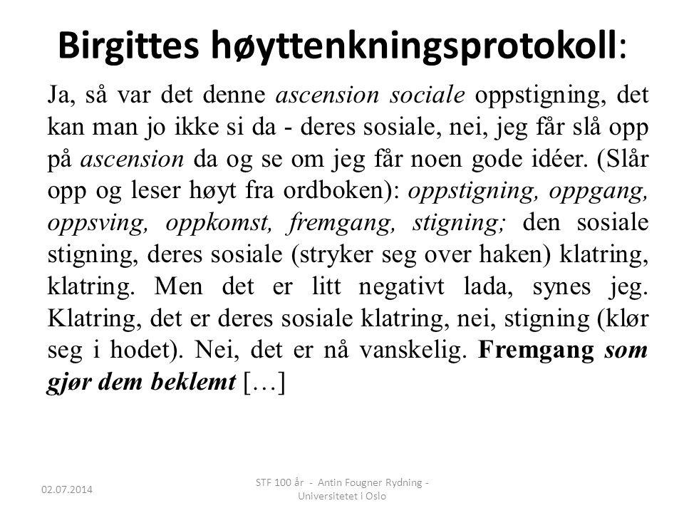 Birgittes høyttenkningsprotokoll: