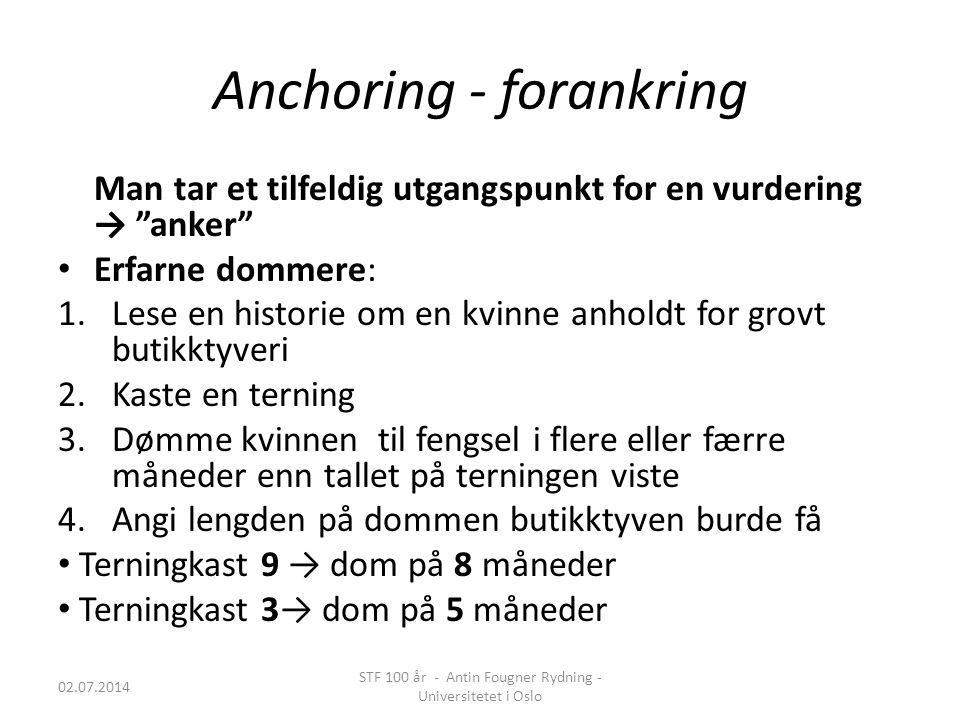 Anchoring - forankring