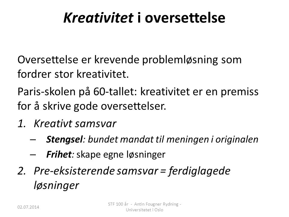 Kreativitet i oversettelse