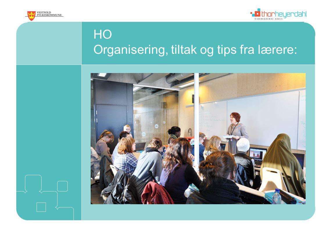 HO Organisering, tiltak og tips fra lærere: