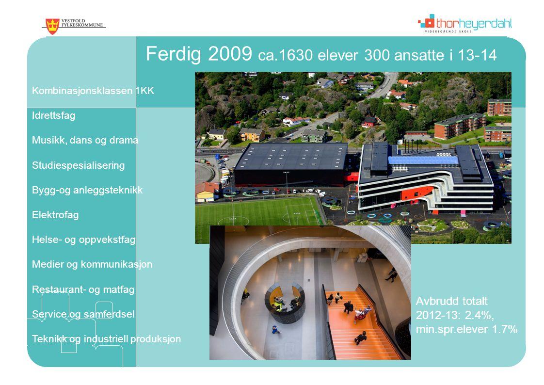 Ferdig 2009 ca.1630 elever 300 ansatte i 13-14