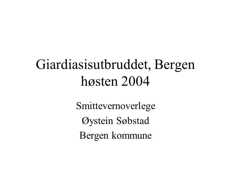 Giardiasisutbruddet, Bergen høsten 2004