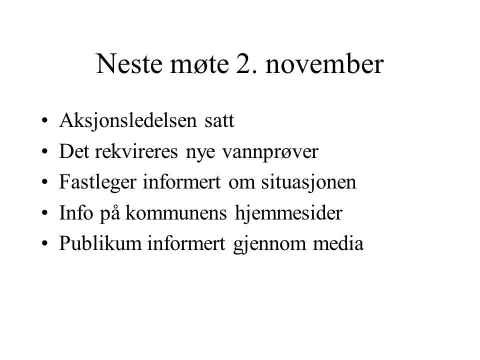 Neste møte 2. november Aksjonsledelsen satt