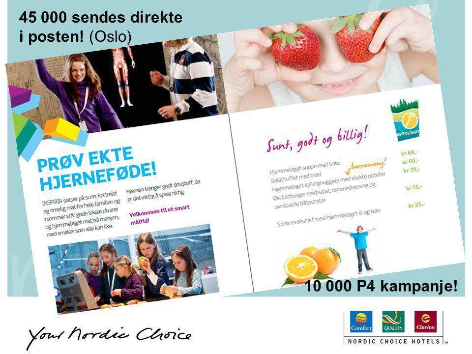 45 000 sendes direkte i posten! (Oslo)
