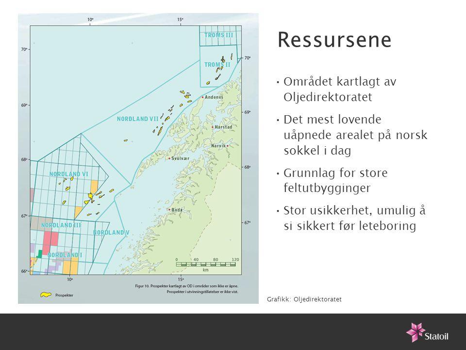 Ressursene Området kartlagt av Oljedirektoratet