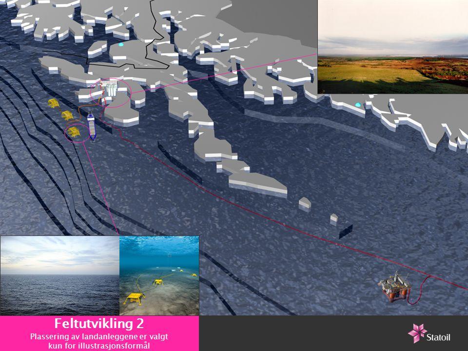 I dette alternativet har vi valgt å vise en en modell med tradisjonell offshore utbygging i N6 kombinert med en ilandføringsløsning i N7/Troms ll
