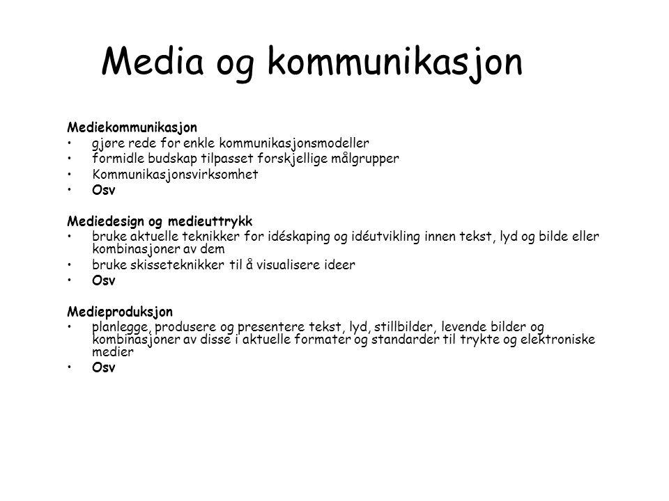 Media og kommunikasjon