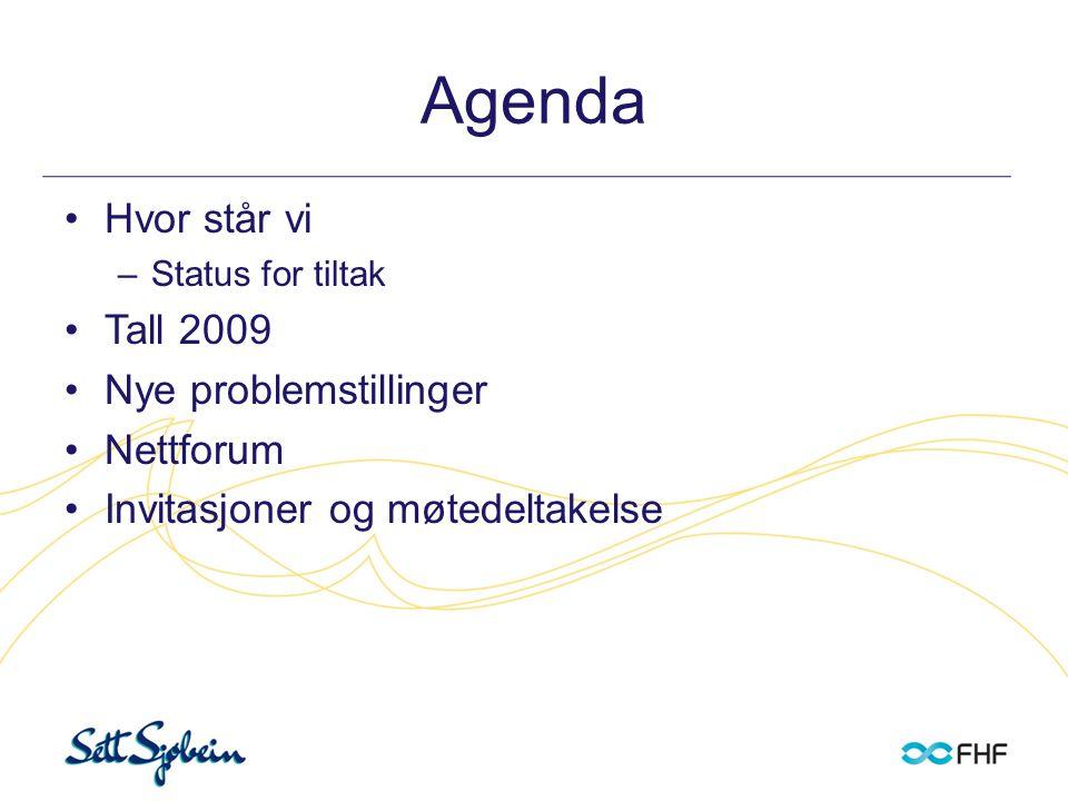 Agenda Hvor står vi Tall 2009 Nye problemstillinger Nettforum