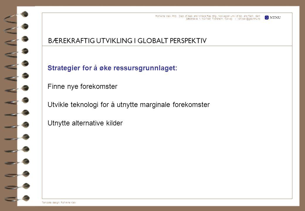 BÆREKRAFTIG UTVIKLING I GLOBALT PERSPEKTIV